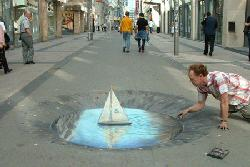 3D paint illusion
